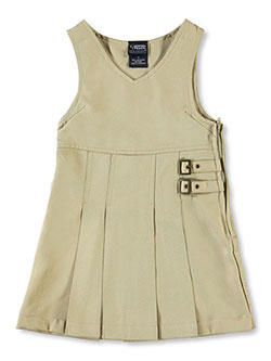 Big Girls' Double Buckle Tab Jumper by French Toast in khaki and navy - $11.99