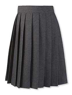 "Little Girls' ""Jana"" Pleated Skirt by French Toast in gray and navy"