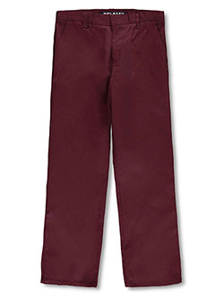 Husky Wrinkle No More Relaxed Fit Pants by French Toast in burgundy, gray, khaki and navy