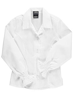 French Toast Little Girls' L/S Peasant Blouse (Sizes 4 - 6X) - CookiesKids.com
