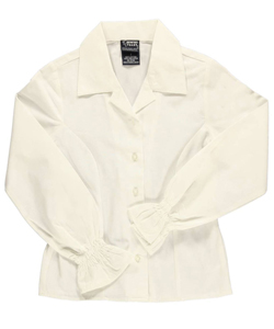 French Toast Big Girls' L/S Peasant Blouse (Sizes 7 - 16) - CookiesKids.com