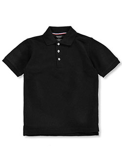 Unisex S/S Pique Polo by French Toast in black, blue, yellow and more - $12.00