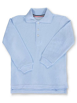Boys' L/S Pique Polo by French Toast in black, blue, yellow and more