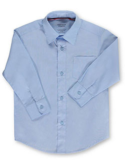 French Toast Big Boys' L/S Unisex Button-Down Shirt (Sizes 8 - 20) - CookiesKids.com