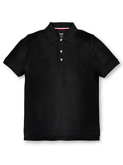 Unisex S/S Pique Polo by French Toast in black, blue, yellow and more - $9.99