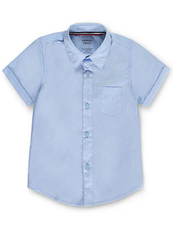 French Toast Big Boys' Husky S/S Unisex Button-Down Shirt (Husky Sizes) - CookiesKids.com