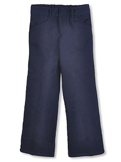 Flat Front Pants by French Toast in Navy, School Uniforms:::School Uniforms Big Girls'