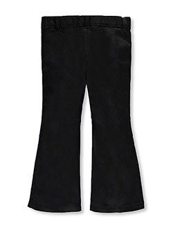Little Girls' Flat Front Flare Pants by French Toast in black, gray and khaki