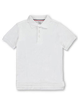 French Toast Unisex S/S Knit Polo Shirt (Sizes 4 - 7) - CookiesKids.com