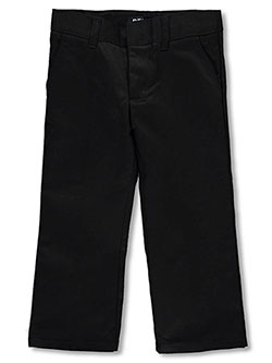 Wrinkle No More Relaxed Fit Pants by French Toast in black, gray, green, khaki and navy - $14.99