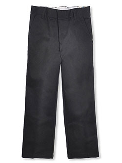 French Toast Big Boys' Flat Front Wrinkle No More Double Knee Pants (Sizes 8 - 20) - CookiesKids.com