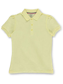"French Toast Big Girls' ""Nadia"" S/S Knit Polo Shirt (Sizes 7 – 20) - CookiesKids.com"