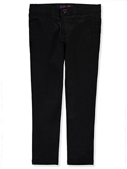 Stretch Twill Skinny Uniform Pants by French Toast in black, gray, khaki and navy, School Uniforms