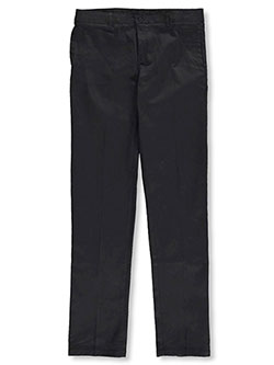 Stretch Twill Uniform Pants by French Toast in black, gray, khaki and navy