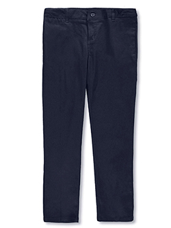 Girls Flat Front Skinny Pants by French Toast in Navy