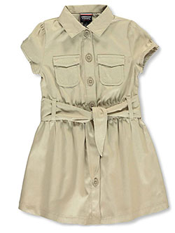 Belted Dress by French Toast in Khaki, School Uniforms