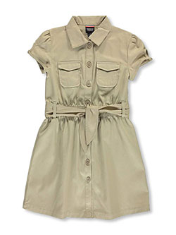 Belted Dress by French Toast in Khaki