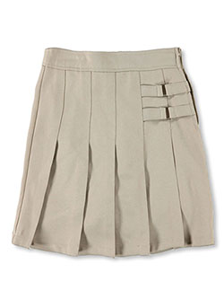 French Toast Big Girls' Plus Two Tab Pleated Skort - CookiesKids.com