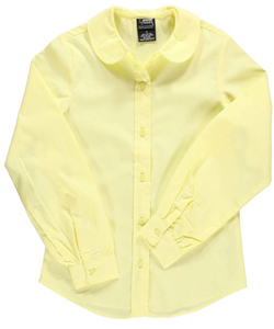 French Toast Big Girls' L/S Peter Pan Blouse (Sizes 7 - 16) - CookiesKids.com