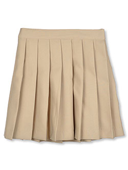 Little Girls' Pleated Skirt by French Toast in Khaki