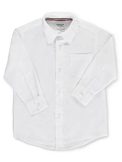 French Toast Little Boys' Toddler L/S Button-Down Shirt (Sizes 2T - 4T) - CookiesKids.com