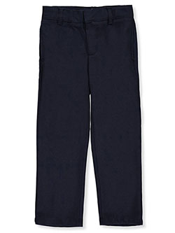 Pleated Straight Leg Pants by French Toast in charcoal, gray and navy