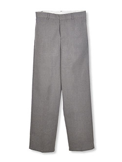 Big Boys' Flannel Flat Front Pants by French Toast in gray and navy