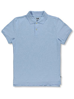 "Uniforms ""Standard Fit"" S/S Unisex Pique Polo by Lee in black, blue, white and more"