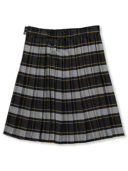 "Big Girls' Plus ""Cora"" Pleated Skirt by French Toast in Plaid #57"