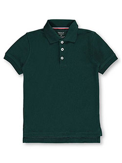 Unisex S/S Pique Polo by French Toast in green and purple - $7.99