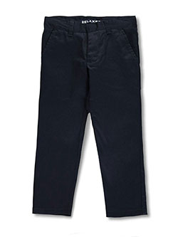 Wrinkle No More Relaxed Fit Pants by French Toast in khaki and navy