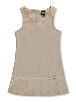 "Big Girls' ""Pleat Bow"" Jumper by French Toast in khaki and navy - Jumpers"