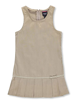 "Little Girls' ""Pleat Bow"" Jumper by French Toast in khaki and navy - Jumpers"