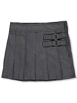 Little Girls' Toddler Scooter Skirt by French Toast in gray and khaki