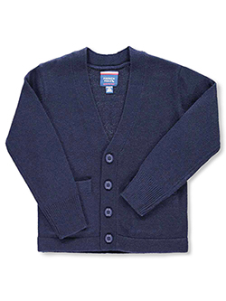 Little Boys' Welt Pocket Cardigan by French Toast in Navy, School Uniforms