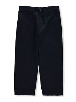 Toddler Pleated Wrinkle No More Relaxed Fit Pants by French Toast in black, gray, khaki and navy