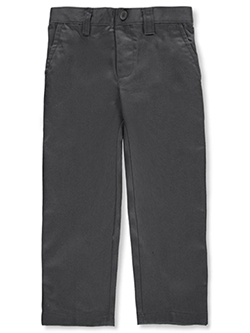 Wrinkle No More Relaxed Fit Pants by French Toast in gray, khaki and navy - $12.99