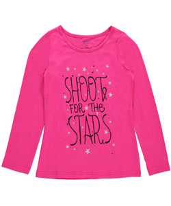 "French Toast Little Girls' ""Shoot for the Stars"" Top (Sizes 4 – 6X) - CookiesKids.com"