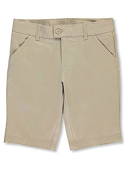Flat Front Twill Bermuda Shorts by French Toast in khaki and navy