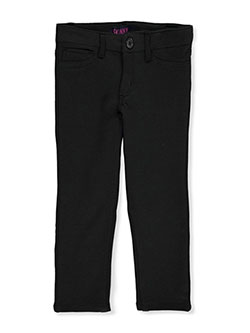 Girls' Ponte Knit Skinny Jeggings by French Toast in black, khaki and navy