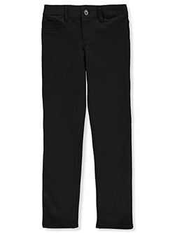 Girls' Ponte Knit Skinny Jeggings by French Toast in black, khaki and navy, School Uniforms