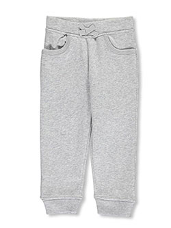 Little Girls' Toddler Fleece Joggers by French Toast in gray and navy