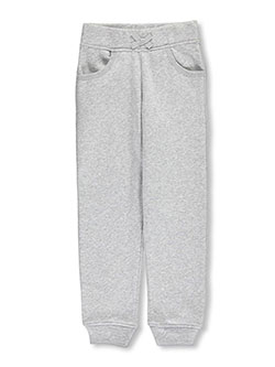 Big Girls' Fleece Joggers by French Toast in gray and navy - $10.99