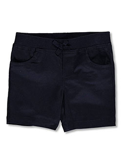 French Toast Little Girls' Wrinkle No More Pull-On Tie-Front Shorts (Sizes 4 – 6X) - CookiesKids.com