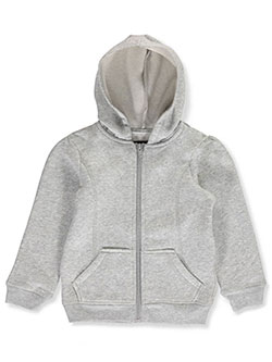 Little Girls' Fleece Hoodie by French Toast in gray and navy, School Uniforms