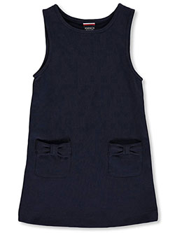 Little Girls' Bow Pocket Ponte Jumper by French Toast in Navy