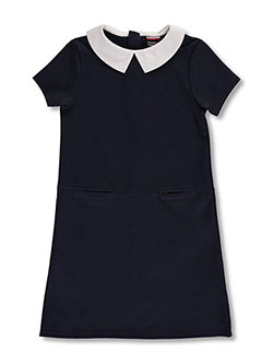 Big Girls' Ponte Jumper by French Toast in Navy - Jumpers