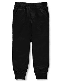 Boys' Twill Joggers by French Toast in black, gray, khaki and navy, School Uniforms