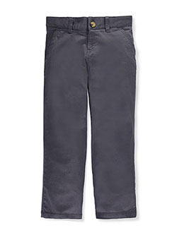 Twill Straight Fit Chino Pants by French Toast in gray, khaki and navy, School Uniforms