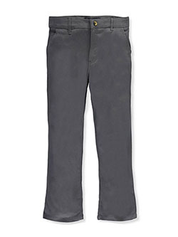 Plus Twill Straight Leg Pants by French Toast in gray and navy